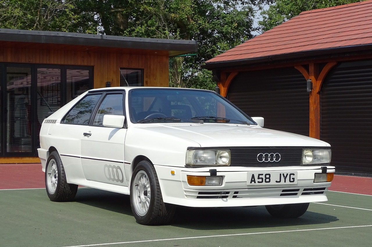 German classic speed machine 1983 Audi Quattro 10v