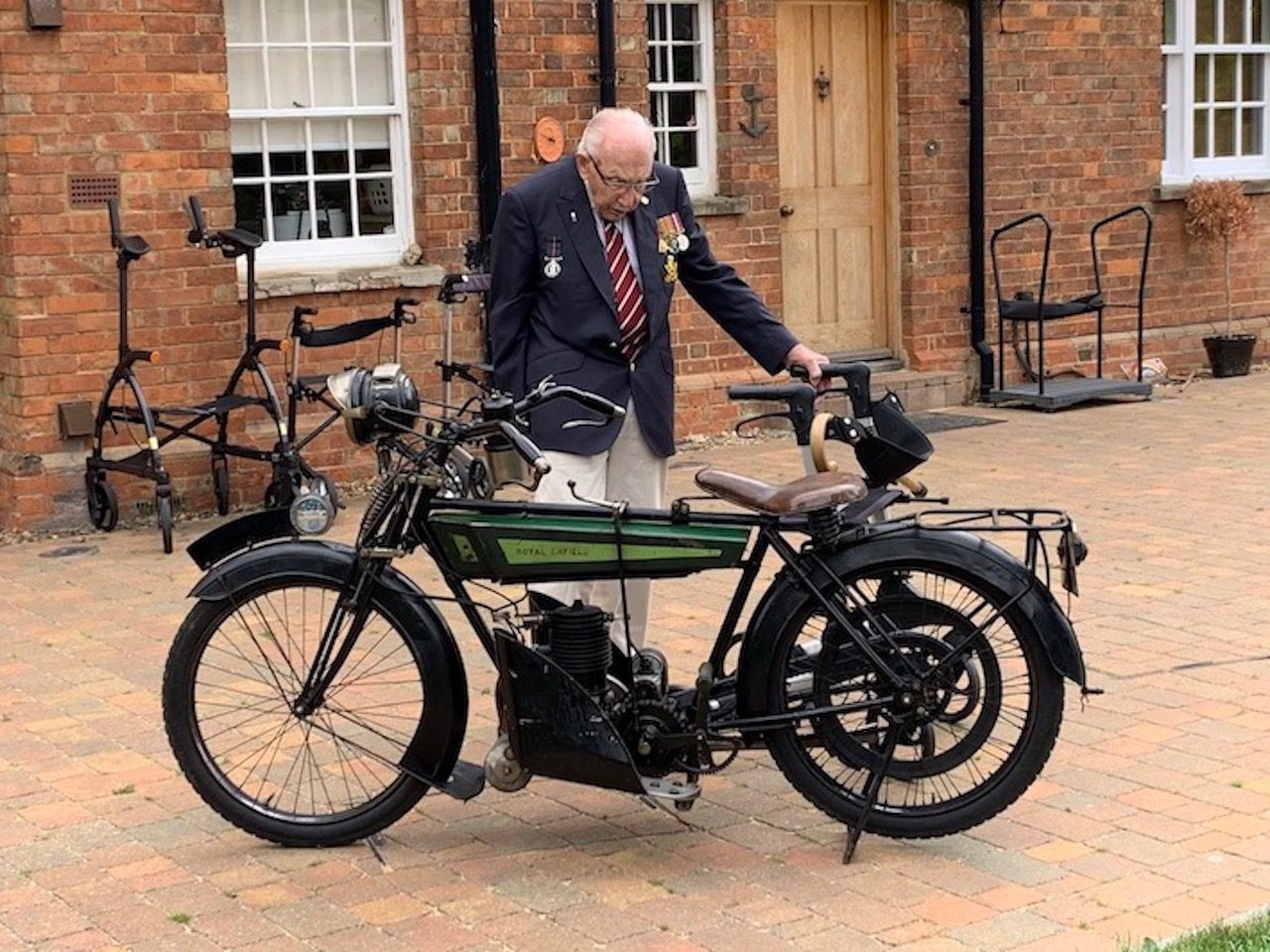 Captain Tom Moore and the Royal Enfield Model 200