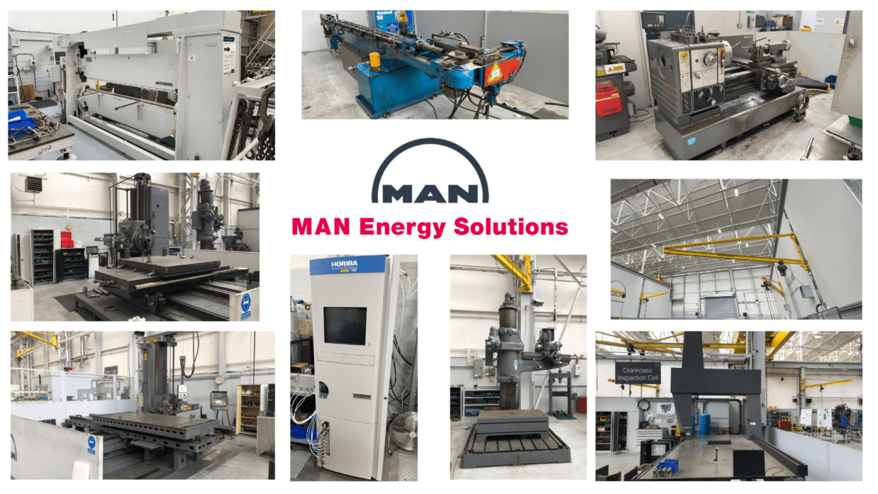 MAN Energy Solutions Auction of Engine Manufacturing Equipment